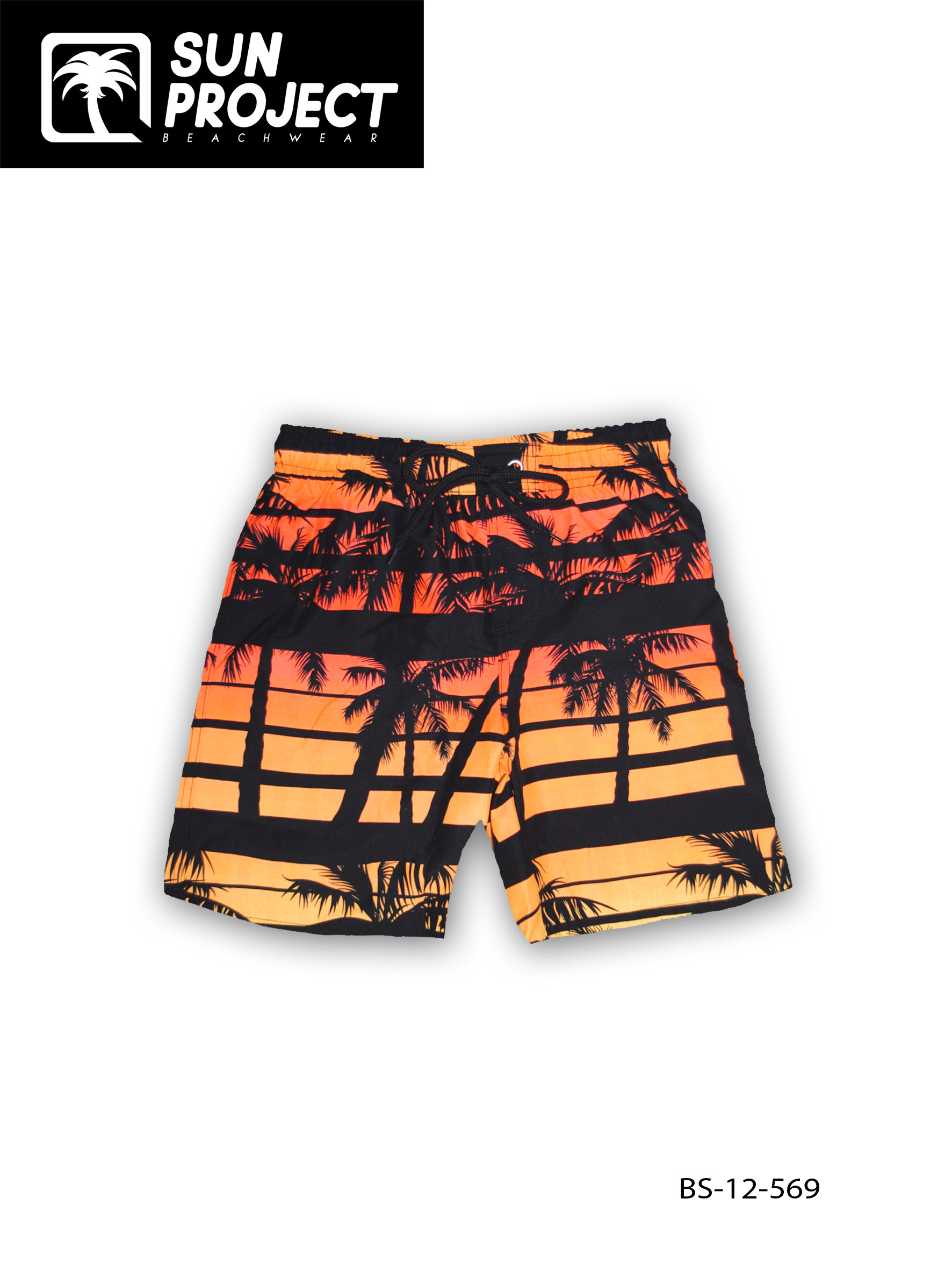 Short De Bain Camaïeu Orange Garçon BS-12-569
